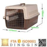 Cassa di plastica pieghevole approvata del cane di linea aerea