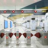 A Estação de Metro de asa de Retracção Bilhete óptico avançado de segurança de barreira