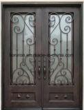 Portes en partie double artistiques de luxe de fer travaillé pour la Chambre
