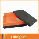 Negro caja de regalo con logotipo personalizado