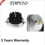 Lámpara de techo de plata de 3000k 20W Spot COB Downlight LED