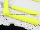 Tafelgereedschap van het Roestvrij staal van het Roestvrij staal van het bestek het Vastgestelde Vastgestelde met Plastic Handvat
