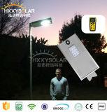 Farola 10W Solar Integrated LED de alto brillo de sensor para el jardín