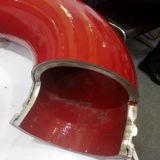 Codo montado carro de resistencia de la bomba concreta del desgaste