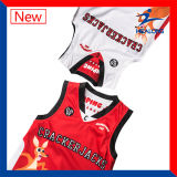 Healong doble tela de baloncesto uniformes jerseys