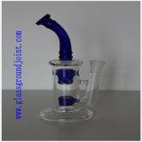Tubulação de vidro de fumo com as junções à terra de vidro