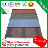 Le type chaud pierre de secousse de vente du Kenya ébrèche la tuile de toit enduite en métal