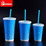 Устранимая чашка пластмассы/бумаги холодная выпивая