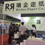 Un papel de tejido más rico de la toalla de mano con el certificado del Fsc