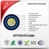 Cabo blindado GYTY 2-144core53 cabo de fibra óptica