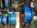 Doppeltes Flansch-Drosselventil mit Getriebe (D341X-10/16)