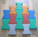 Interlock / Square Type e Dog Bone Rubber Tile