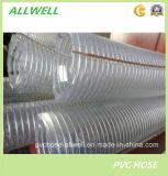 PVC Plástico Alambre de acero anti-estático Alambre de polietileno flexible Alambre de espiral industrial Tubo de tubo de conducto