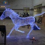 Heißes Sale Weihnachten Light Zoo Animal 3D Christmas Lighting Horse für Holiday Decoration