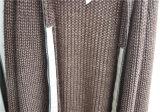 Winter-reine Farbegeöffnete vordere Knit-Frauen-Wolljacke