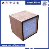 Filtre plissé par H13/H14 du bâti en bois HEPA pour le Cleanroom