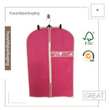 Sacchetto di elemento portante su ordinazione all'ingrosso del vestito del coperchio del vestito del sacchetto di indumento del panno