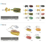 Venda por atacado Cheap Silicone Skirt Spinner Bait Jig Fishing Lure