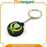 Kundenspezifischer weicher Belüftung-Schlüsselring mit Firmenzeichen