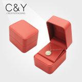 Kundenspezifisches ledernes Geschenk-verpackenkasten für Ohrring