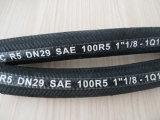 Slang SAE100r5 van de Vlecht van de Draad van de vezel en van het Staal de Hydraulische Rubber