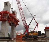 Sany Scc1500d кран на гусеничном ходе 150 тонн поднимая машинное оборудование вагона с краном