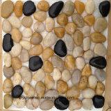 Gelber/schwarzer Kiesel-preiswerte Fußboden-Fliese für die Landschaftsgestaltung