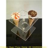 Mini présentoir acrylique clair de cônes