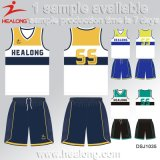 Camisola Sublimated feito-à-medida do basquetebol de Healong