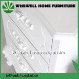 Armoire en bois MDF chambre à coucher avec 3 tiroir de rangement (W-CB-423)