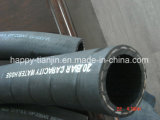Cable de fibra de poliéster trenzado textil //baja presión de la manguera de goma