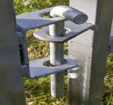 Поголовье ограждает загородку металла временно