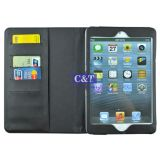 Stand en cuir Filp Card Holder Cas pour l'iPad Mini Retina