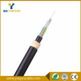 Cable óptico de la fibra de las memorias G652D de ADSS 12 con la chaqueta doble