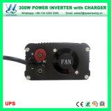 300W 12В постоянного тока к источнику переменного тока 110 В/220 В солнечной инвертирующий усилитель мощности с помощью зарядного устройства (QW-M300ИБП)
