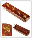 Прямоугольная деревянная коробка пер с украшениями Inlaiding