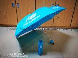Falte der Form-fünf geben Flaschen-Regenschirme für neuen Ausgleich (FU-5619BU)