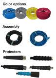青または灰色か黒くまたはピンクまたは黄色い油圧ジェット機の洗浄ホース
