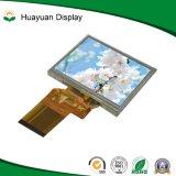 接触パネルが付いている3.5インチ正方形LCDの産業表示