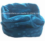 Customized Design Especialmente promocional de poliéster Microfibra Azul Multifuncional Magic Neck Warmer
