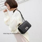 관례에 의하여 누비질되는 사슬 어깨에 매는 가방 메신저 여자 핸드백