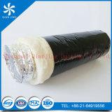 Conducto flexible de aluminio del aislante inflamable de la fibra de vidrio (película del PE de Alu duct+Black)