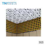背景の壁のための水補強のポリエステル線維の内部の装飾的な3D音響のボード