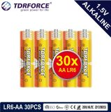 trockene alkalische hauptsächlichbatterie 1.5volt mit Ce/ISO 12PCS/Pack (LR6/AM-3/AA)