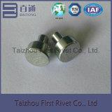 11X12mmの白い亜鉛平らなヘッド固体鋼鉄リベット