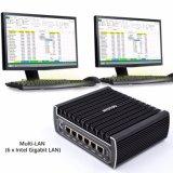 Fräser 6 LAN-Computer-Brandmauer mit Intel-Gigabit-Netz USB3.0 Speicher Psfense (I3 7100u Prozessor) COM-32g DDR4
