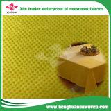 대중음식점 좋은 품질을%s 가진 처분할 수 있는 테이블 피복을%s 부직포 노란 시리즈