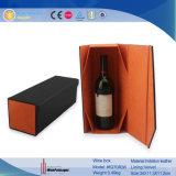 1本のびん(5270R3)のための贅沢なFoldable PUの革ワインボックス