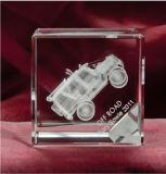 De Gravure van de Kubus van het Kristal van de Machine van de auto