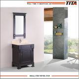 Vanità del doppio dispersore della stanza da bagno della mobilia di vanità della stanza da bagno di legno solido